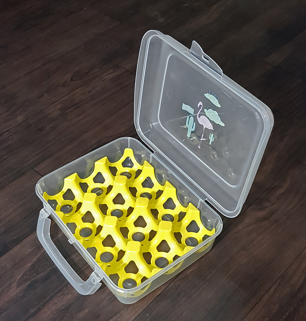 Plastic Egg Tray Box for Fridge Egg Storage Container Basket Crate for Home - EGGTRAY