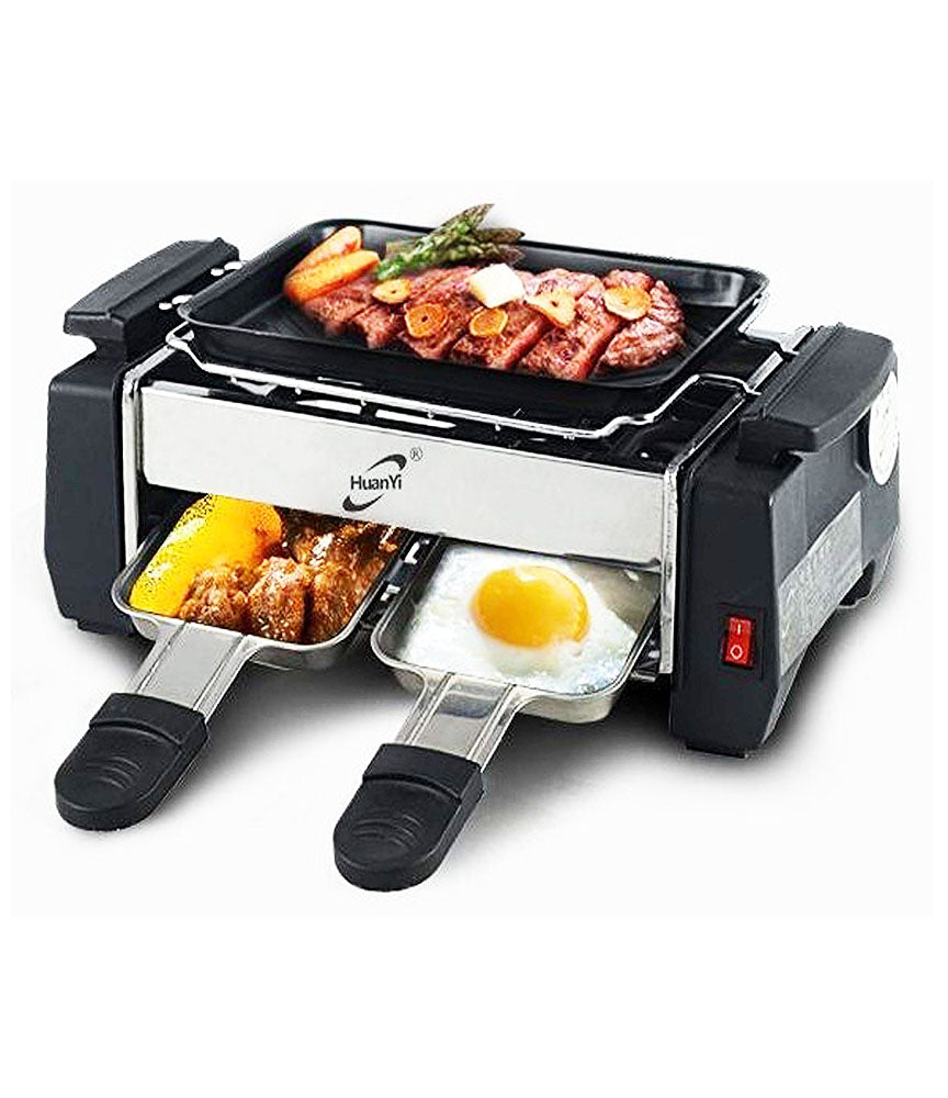 Electric Barbeque Grill Toaster Frying Pan (Multicolour) - ELBBQ
