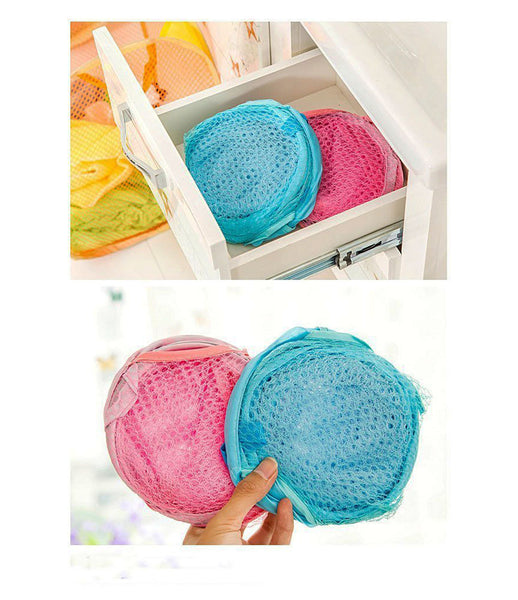 Easy Laundry Clothes Flexible Hamper Bag with Side Pocket Net Laundry Bag Laundry Basket Set of 1 pcs- ESYLNDYBG