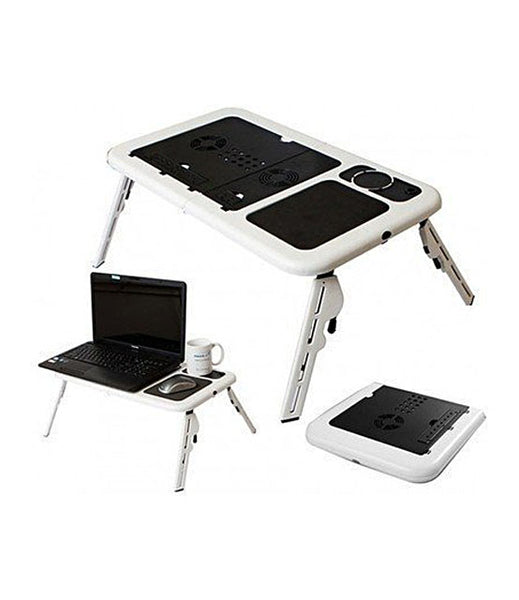 Foldable Laptop Table with 2 USB Cooling Fans - ETB001
