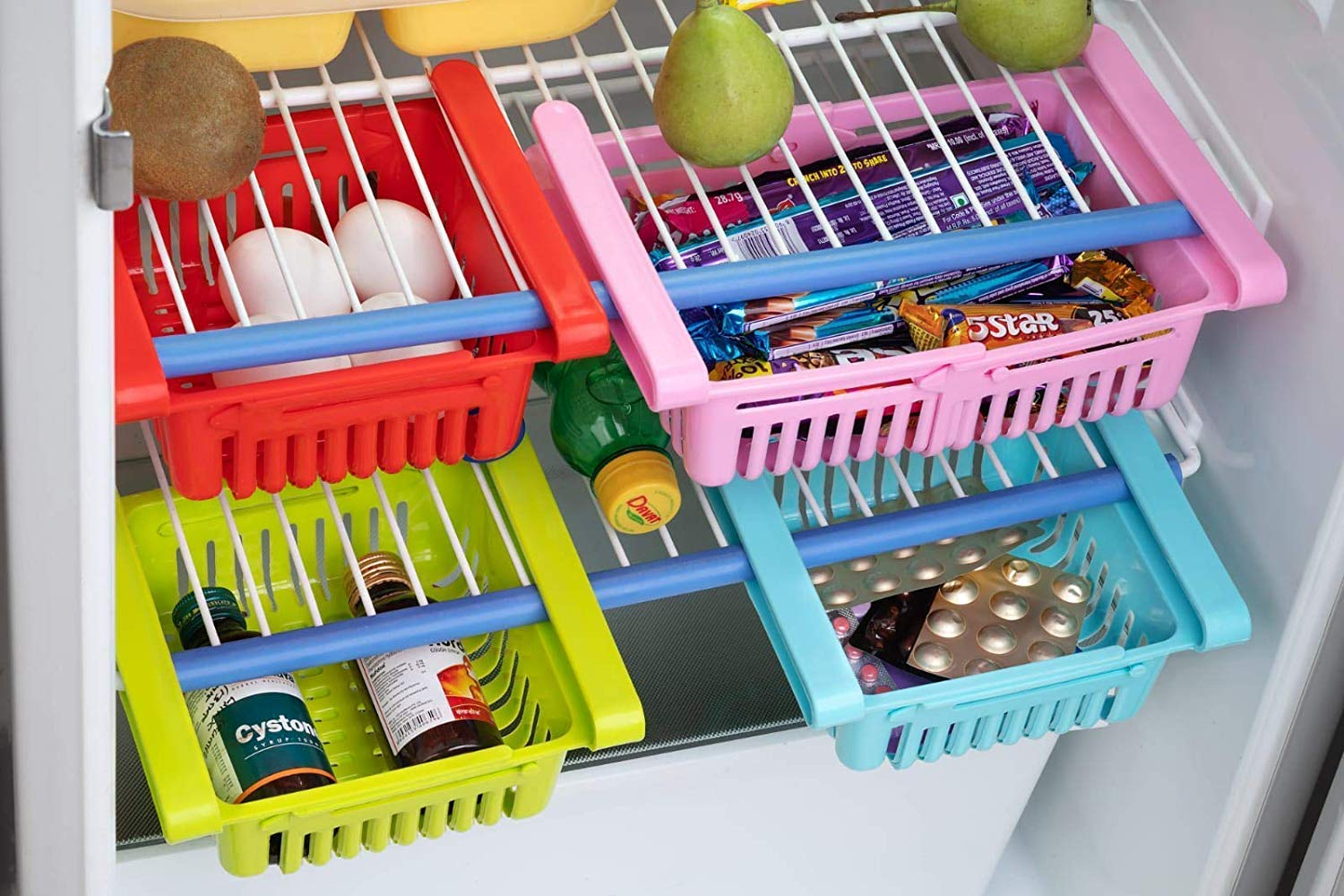 Fridge Storage Sliding Drawer Rack Freezer And Refrigerator - FRIDGETRAY