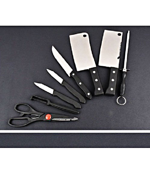 7 Piece Stainless Steel Kitchen Knife Set Knives Set with Knife Scissor - HKNIFE