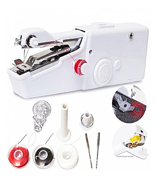 Portable And Cordless Electric Mini Handheld Sewing Machine Handy Stitch Set - HNDSWM