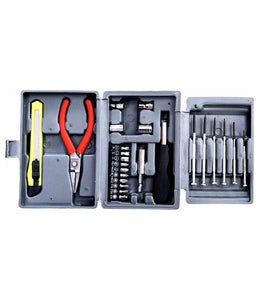 Multi purpose Hobby Toolkit 25 Pieces Screwdriver Socket Set and Bit Combination Wrench Tool Kit Magnetic Toolkit for Home, Car, Bike - HOBYTOL
