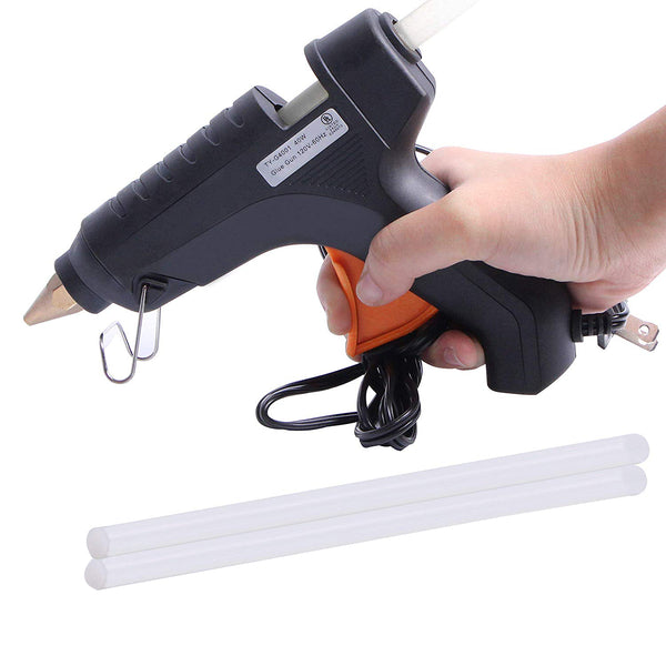 Hot Melt Plastic Glue Gun with 2 Glue Sticks for School Kids Art Craft Home Industrial Use Decorating Purpose - HTGLVEGN