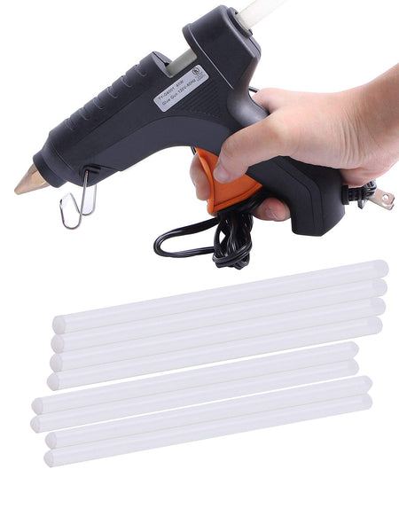 Hot Melt Plastic Glue Gun with 2 Glue Sticks for School Kids Art Craft Home Industrial Use Decorating Purpose - HTGLVEGN-01