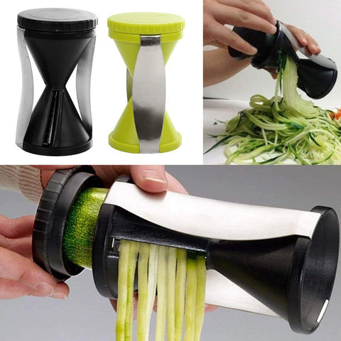 Stainless Steel Vegetable Spiral Slicer, Multi Colour - HY607