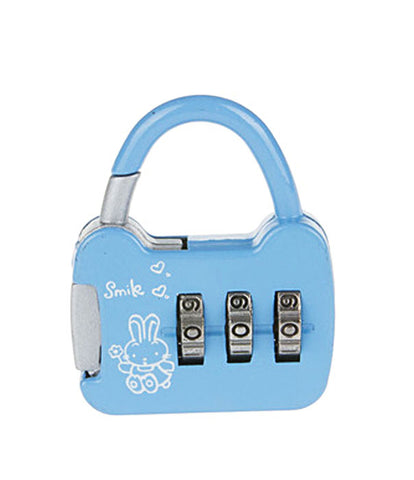 3 Digit Metallic Number Lock Small Bag Lock Travel Lock Luggage Re-Settable Password Locks Combination Padlock - LOCKCR13B