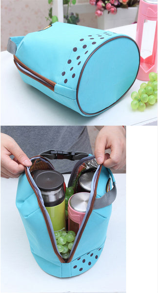 Portable Canvas Thermal Insulated Lunch Box Lunch Tote Bag Small Lunch Bag for School Kid's Lunch Bag Tiffin Bag - LUNCHBAGSPORT-OR