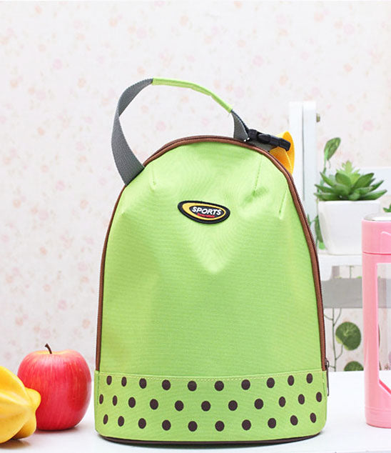 Portable Canvas Thermal Insulated Lunch Box Lunch Tote Bag Small Lunch Bag for School Kid's Lunch Bag Tiffin Bag - LUNCHBAGSPORT-GR