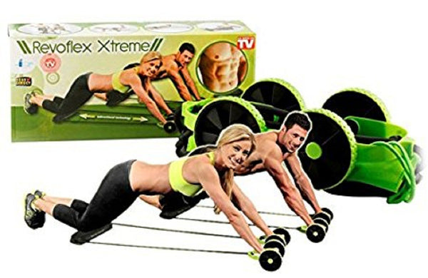Revoflex Xtreme Fitness Exerciser Resistance Tube Ab Slimmer for Complete Body Workout Machine - RVOFLXTR
