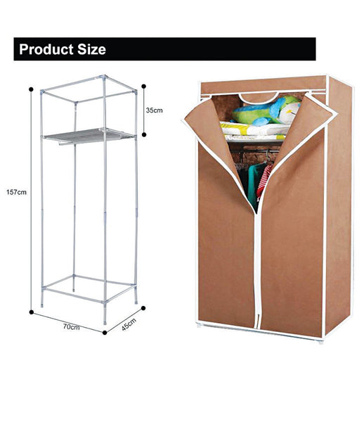 Single Door Space Saving Portable Foldable Wardrobe - SDORW