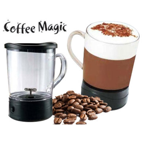 Self Stirring Magic Mug Transparent Glass Coffee Mixing Cup Automatically - CFFLT