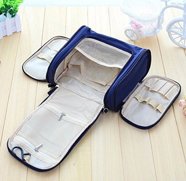 Hanging Fabric Travel Toiletry Bag Organizer And Dopp Kit - TOIBAGNV