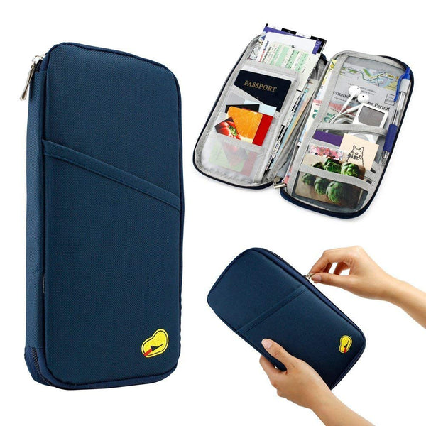 Multipurpose Travel Passport Credit Id Card Organizer Holder Case Zipper - TRBGHDGR