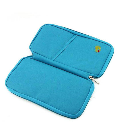 Multipurpose Travel Passport Credit Id Card Organizer Holder Case Zipper - TRBGHDMR