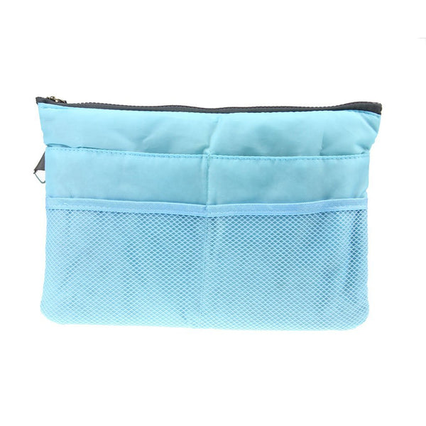 Multi Functional Pouch Cosmetic Bags Makeup Bag Storage Travel Bag Handbag Mp3 Phone Cosmetic Book Storage Purse - TRHDBGSBL