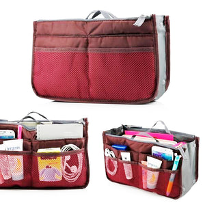 Multi Functional Pouch Cosmetic Bags Makeup Bag Storage Travel Bag Handbag Mp3 Phone Cosmetic Book Storage Purse - TRHDBGMR