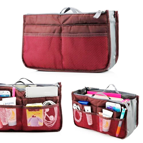 Multi Functional Pouch Cosmetic Bags Makeup Bag Storage Travel Bag Handbag Mp3 Phone Cosmetic Book Storage Purse - TRHDBGPR