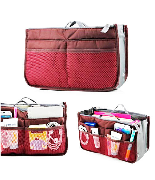 Multi Functional Pouch Cosmetic Bags Makeup Bag Storage Travel Bag Handbag Mp3 Phone Cosmetic Book Storage Purse - TRHDBGBR