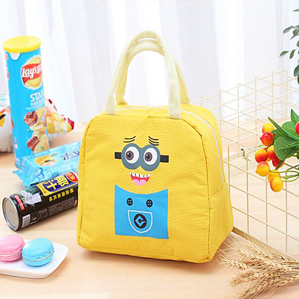 Lunch Bag for Girls and Boys Lunch Bags  Travel Purpose Canvas Insulated Lunch Bag - TRHUGBAG-YL