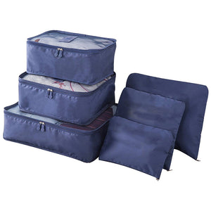 6pcs Packing Portable Travel Storage Bag Organiser Luggage Suitcase Pouches Laundry Bag - TRLDBAGNV