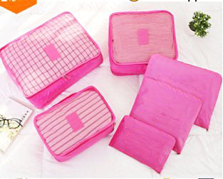 6pcs Packing Portable Travel Storage Bag Organiser Luggage Suitcase Pouches Laundry Bag - TRLDBAGPK