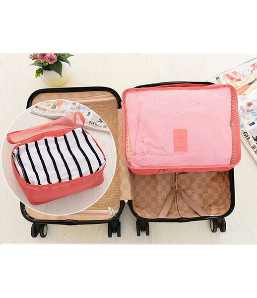 6pcs Packing Portable Travel Storage Bag Organiser Luggage Suitcase Pouches Laundry Bag - TRLDBAGGY
