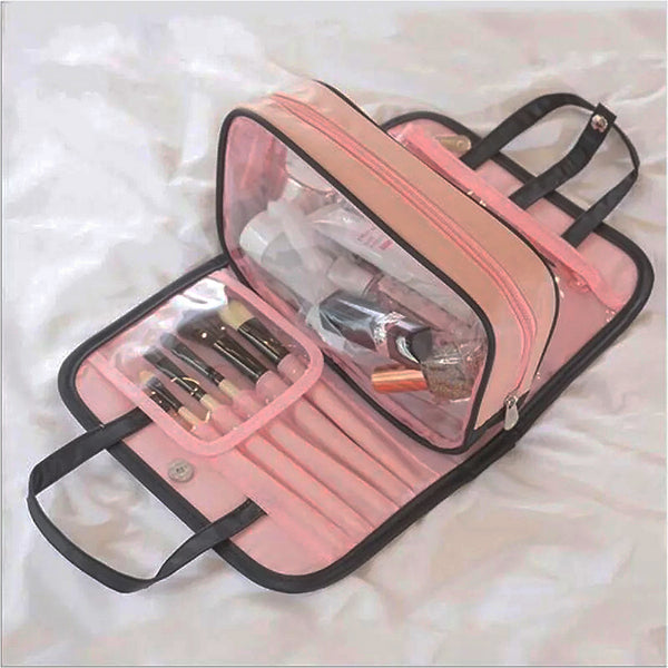 Polyester Toiletry/Make Up Folding Hanging Wash Case/Travel Organizer - TRTOIBG2GY