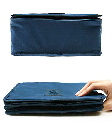 Travel Toiletry Make Up Cosmetic Folding Hanging Bag Wash Case Clothing Organizer Pouch - TRTOIBGBL