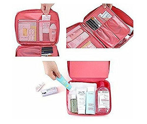 Nylon Travel Organizer Multifunction Toiletry, Makeup Kit, Pouch, Cosmetic Bag Travel Bag - TRVKIT-PK
