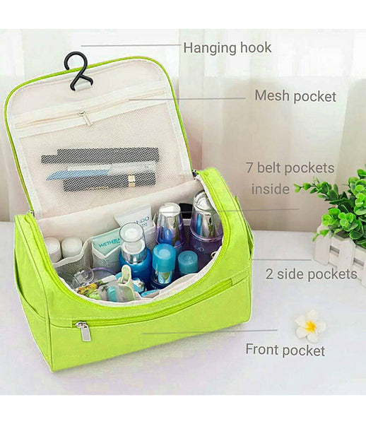 Travel Cosmetic Organizer Bag, Waterproof Wash Bag, Men Women Cosmetic Makeup Bag, Hanging Toiletry Bag, Necessaries Make up Case - TRWSBAGGR