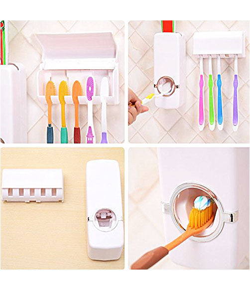 Automatic Toothpaste Dispenser With Detachable Toothbrush Holder - TTHDISK