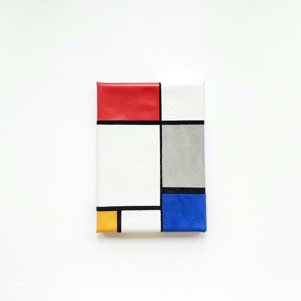 handmade leather art wall art decor Mondrian modern art