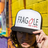 trucker baseball hat mesh snapback Frida Kahlo fragile like a bomb model