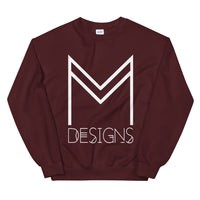 M Designs logo sweatshirt apparel wine maroon