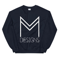 M Designs logo sweatshirt apparel navy