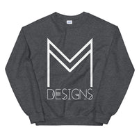 M Designs logo sweatshirt apparel gray