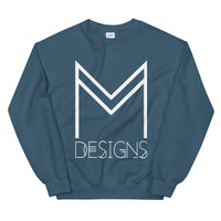 M Designs logo sweatshirt apparel indigo