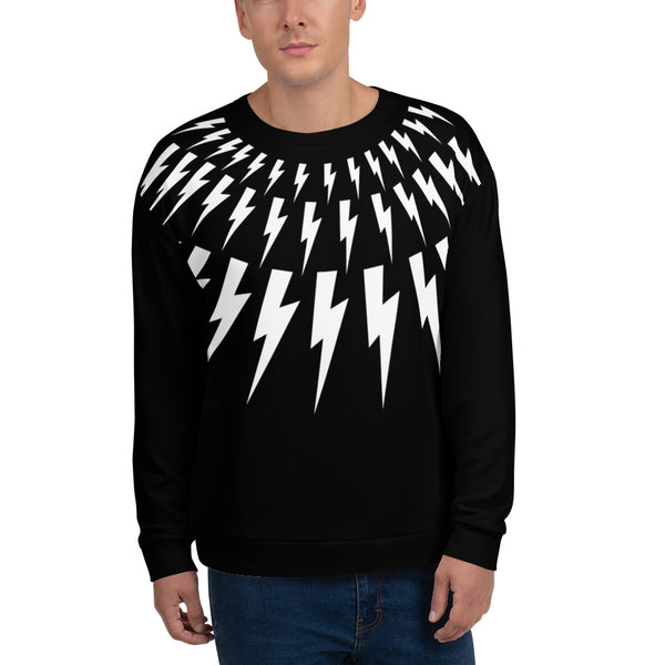 David Rose sweater sweatshirt lightning bolts Schitts Creek apparel