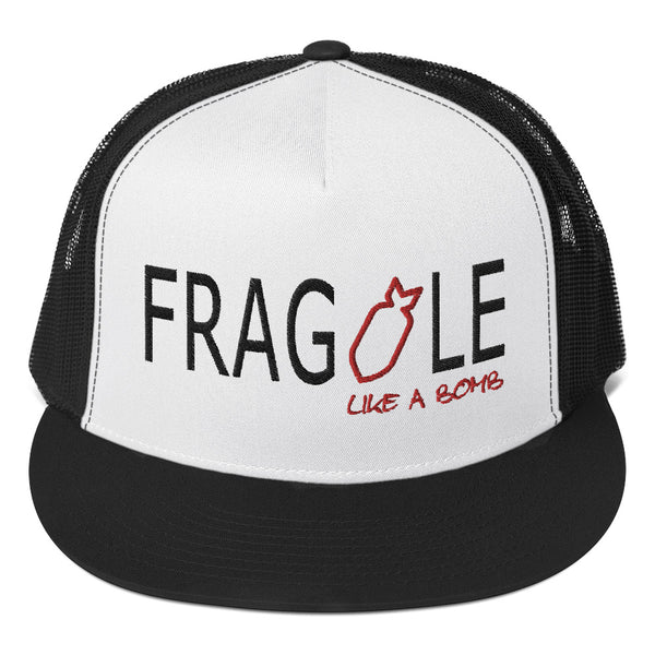 trucker baseball hat mesh snapback Frida Kahlo fragile like a bomb