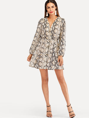 women wearing animal printed dress snakeprint short dress lord owens
