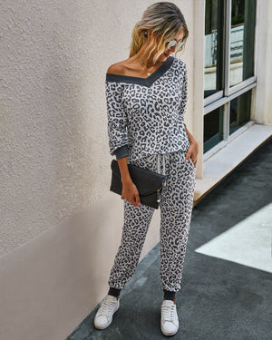 Rush Fashion Leopard Lounge Set