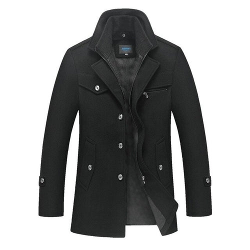 black mens coat winter fall jacket mens outerwear lord owens