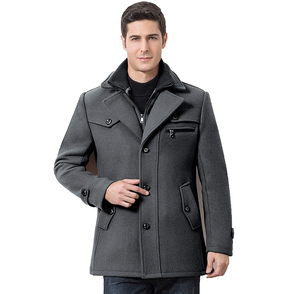 grey gray black mens coat winter fall jacket mens outerwear lord owens