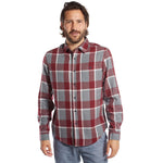 mens red and grey plaid shirt top button up long sleeve shirt mens clothes lord owens