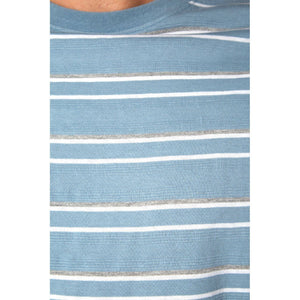 mens blue shirt white stripes short sleeve casual shirts lord owens