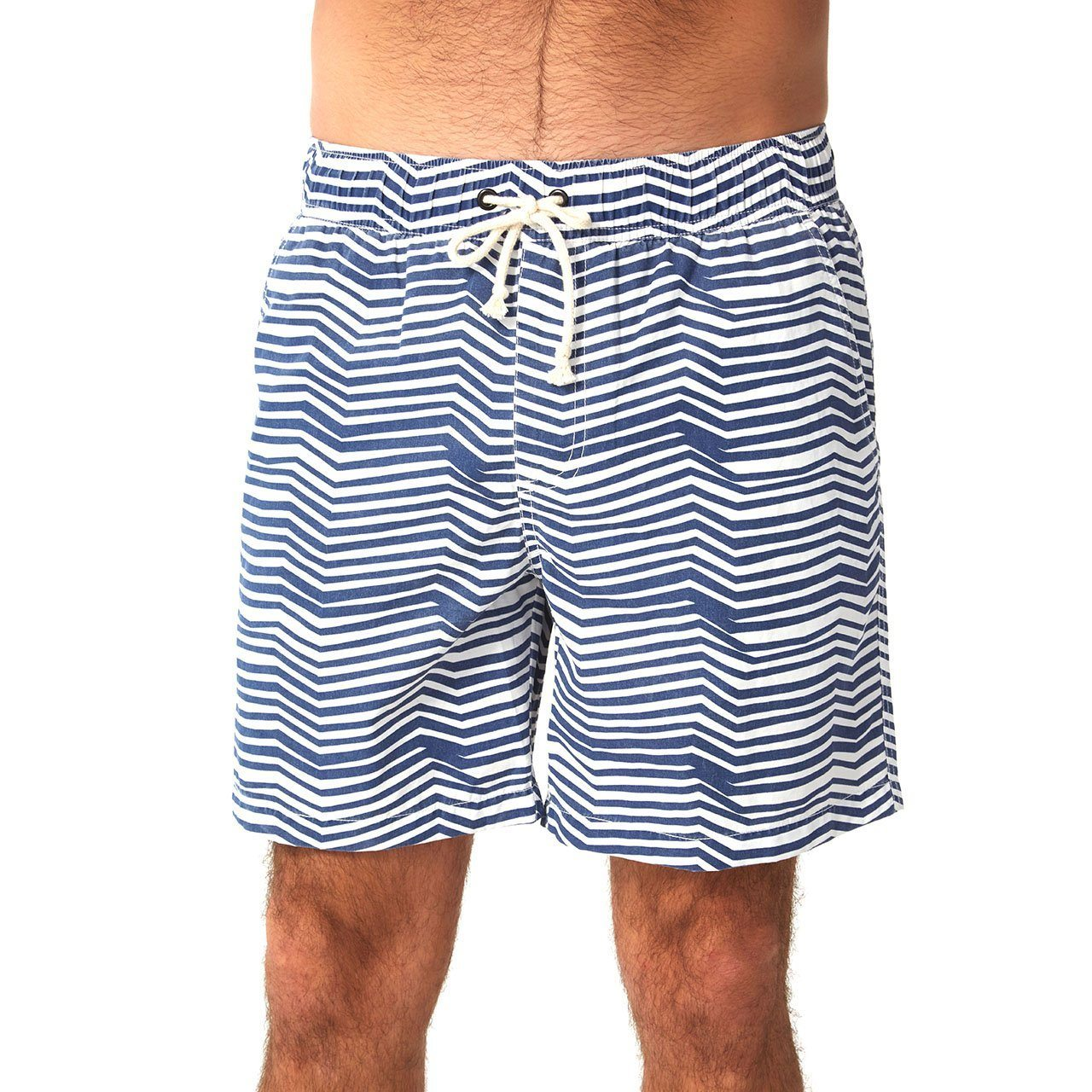 mens swim shorts blue stripes wave pattern mens clothes lord owens