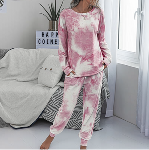 Cozy Pink Tie Dye Lounge Set
