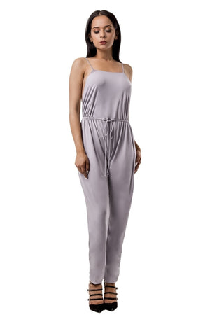 Blasian Open Back Solid Jumpsuit